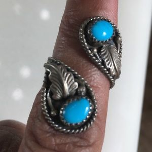 Jewelry - Navajo turquoise sterling bypass ring